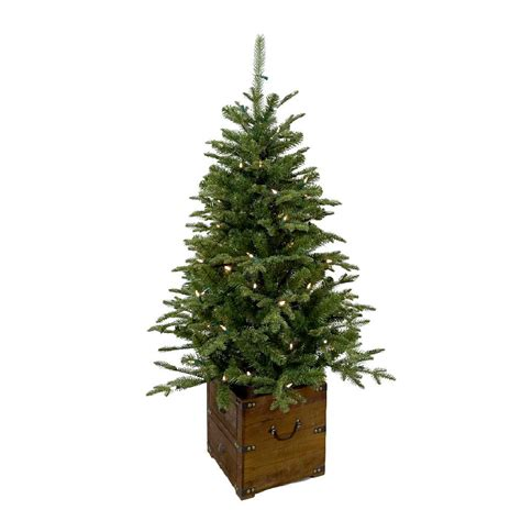 home accents holiday 75 frasier fir home accents 4 ft pre lit frasier artificial porch tree with warm white