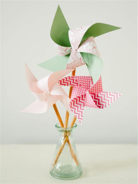 Handmade Pinwheels - craft easy pencil pinwheel hgtv