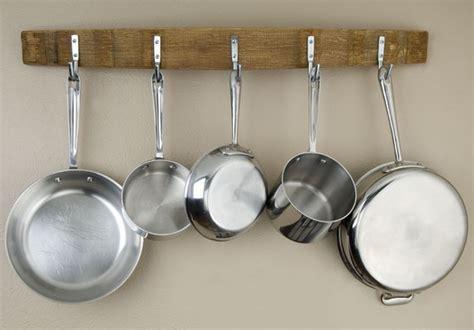 Hanging Pots Pans Barrel Stave Pot Rack By Alpine Wine Design Contemporary