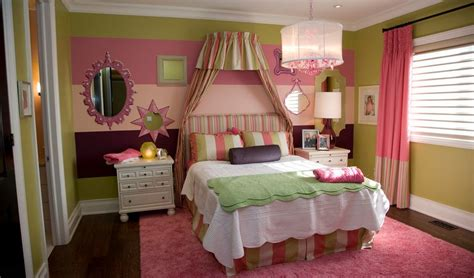 pink and green walls in a bedroom ideas cute bedroom design ideas for kids and playful spirits