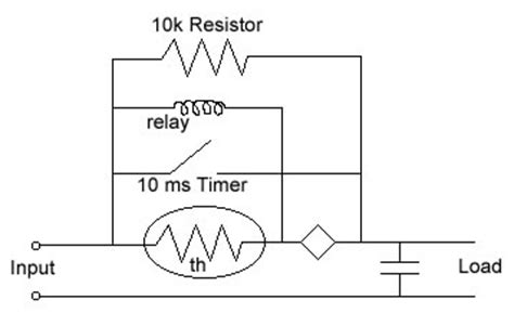 current limiting resistor for relay ntc thermistor thermal time constant ametherm