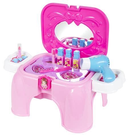vanity cosmetic pretend playset with mirror