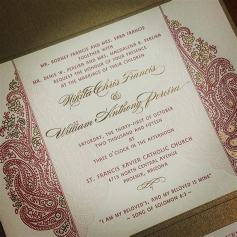 Invitation Indian Wedding by Unique Wedding Invitation India Yaseen For