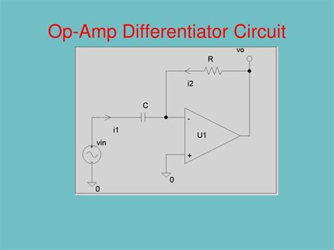 integrator and differentiator circuits using op s ppt basic block diagram of op powerpoint