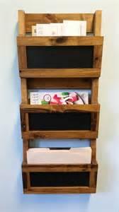 reclaimed pallet wood 3 pocket vertical wall organizer