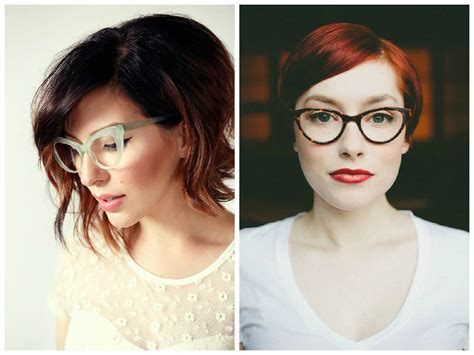 hairstyles for large glasses the best short hairstyles to wear with glasses hair