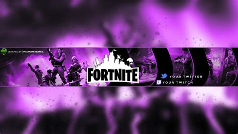 fortnite youtuber names fortnite channel banner template