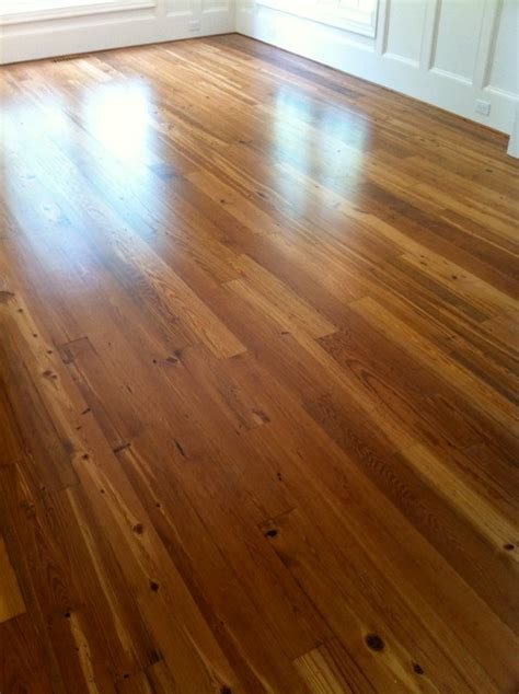 Pine Floors Stained by Custom Stained Reclaimed Pine Flooring Staircase