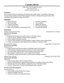 best educational food specialist resume example livecareer