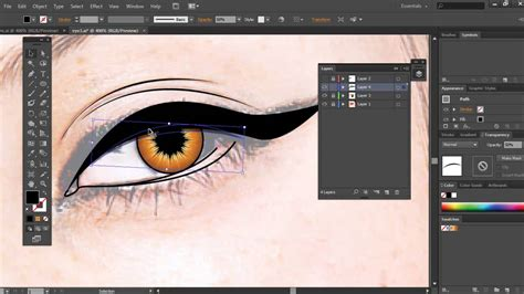 illustrator tutorial eyes illustrator tutorial how to create a vector eye youtube
