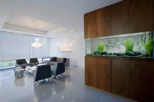 freshwater aquarium in a modern interior decorative