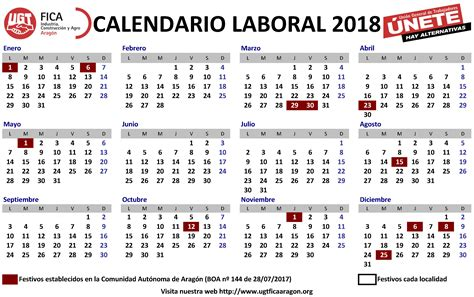 Calendario 2018 Comunidad De Madrid Calendario Laboral 2018 M 225 S De 200 Plantillas Para