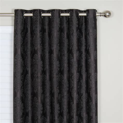 black curtains eyelet buy damask blockout eyelet curtain online curtain wonderland