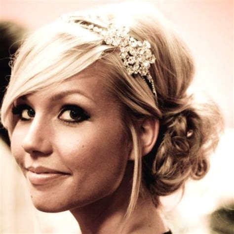 how to comb a bun with side swept bangs wedding hair side swept messy bun with headband my