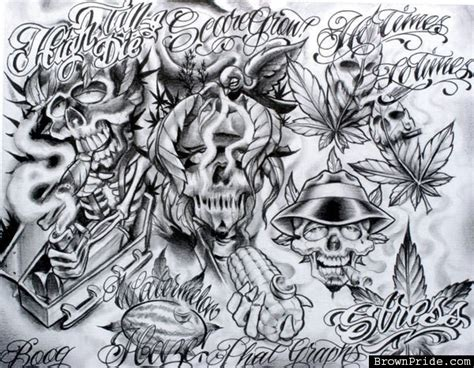 boog tattoo designs boog flash chicano