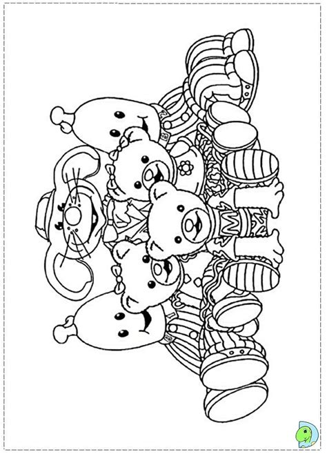 bananas in pyjamas coloring page dinokids org