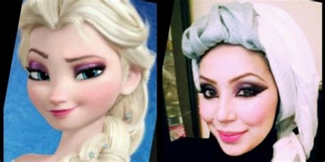 tutorial hijab elsa frozen tutorial hijab ala princess elsa frozen dream co id