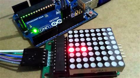 arduino uno max  led matrix  spi
