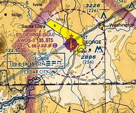 las vegas sectional chart st george municipal airport