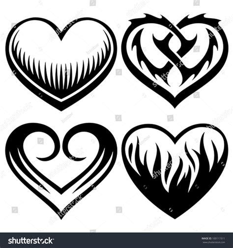 tattooed heart descargar tattoo hearts stock vector 100111511 shutterstock