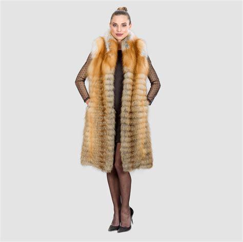 fox brown fur vest 100 real fur coats and accessories