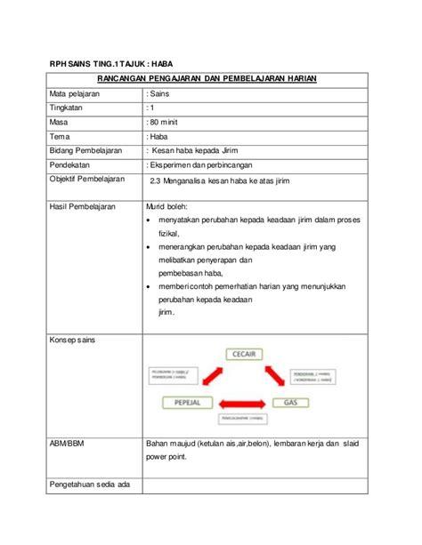 Handbook Pengajaran Dan Penbelajaran Sains rph macro