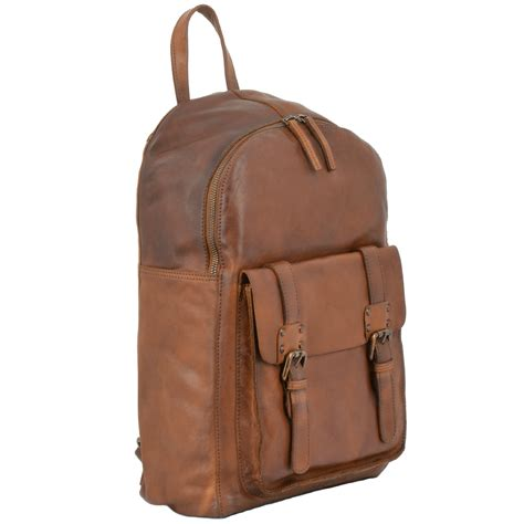 backpack sofa unisex leather vintage wash backpack rust 7999