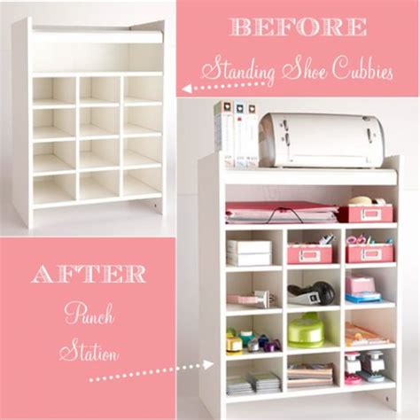 diy craft room storage standing shoe cubby to organize it organizing
