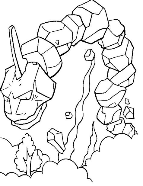 Onix Pokemon Card Coloring Pages Sketch Page sketch template