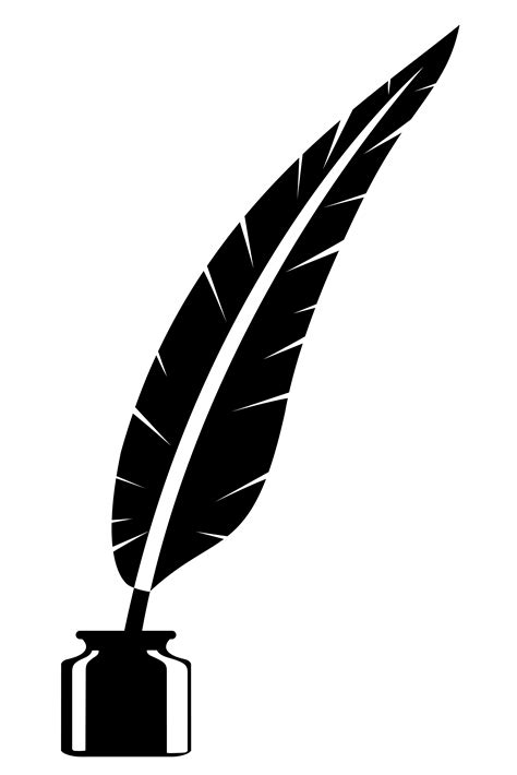 feather and inkwell old retro vintage icon stock vector