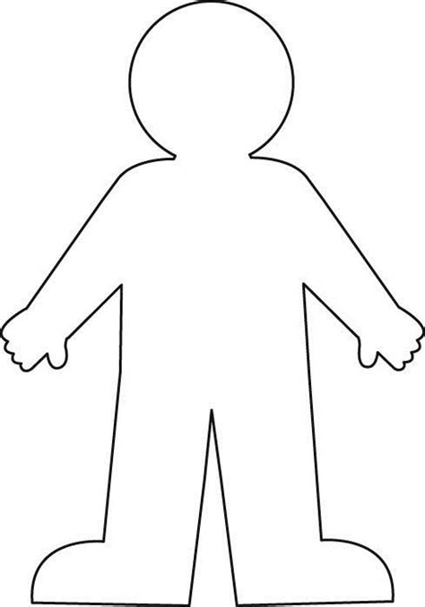 person shape coloring page worksheet with a blank body outline google search