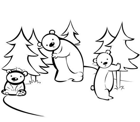 imagenes para colorear bosque osos en el bosque dibujos para colorear