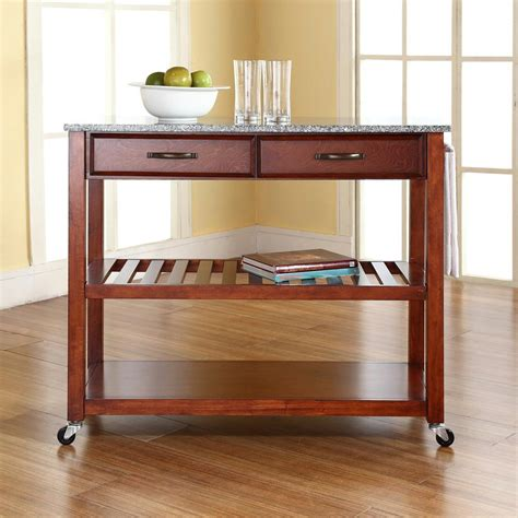 cherry kitchen island cart crosley cherry kitchen cart with granite top kf30053ch