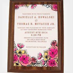 wedding invitation keepsake plaque wedding invitation plaque findgift