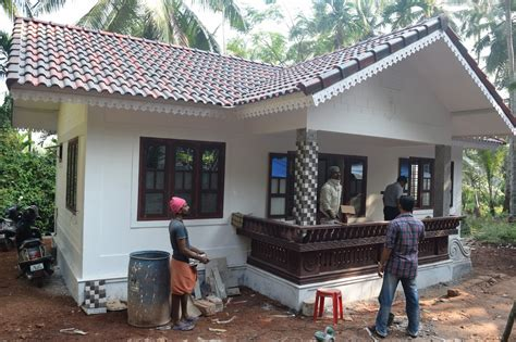 how to design home 8 lakh 2bhk 600 sq ft low cost house design at thenhipalam building designers