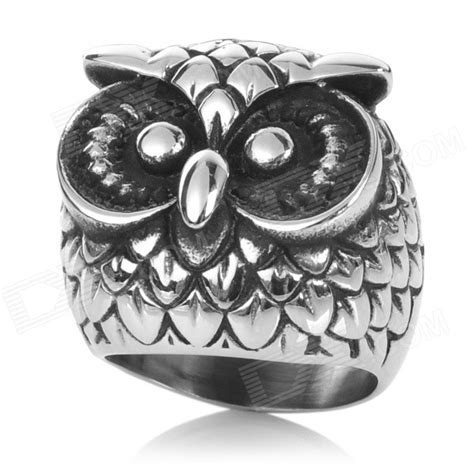 Unique Belt Ring Silver 8 unique owl style 316l stainless steel ring silver us