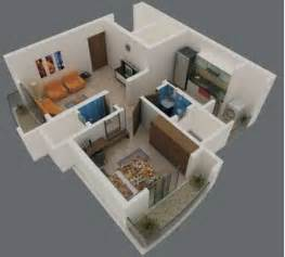 Interior Design For 1bhk Flat Foundation Dezin Amp Decor 3d View Of 1bhk Amp 2 Bhk
