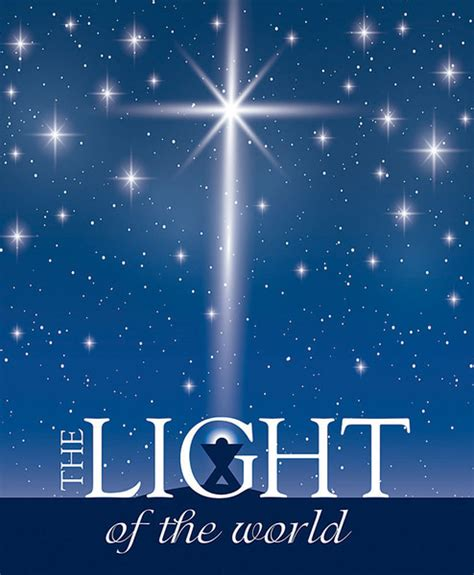 church bulletin 14 quot christmas light of the world pack