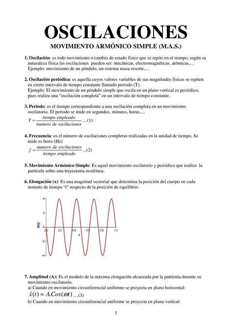 una oscilacion calam 233 o movimiento arm 211 nico simple