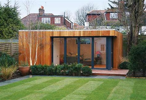 Contemporary English Garden Studio Backyard Shed Ideas Backyard Studio Plans