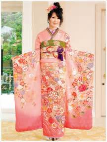 beautiful furisode pink light green is such a spring