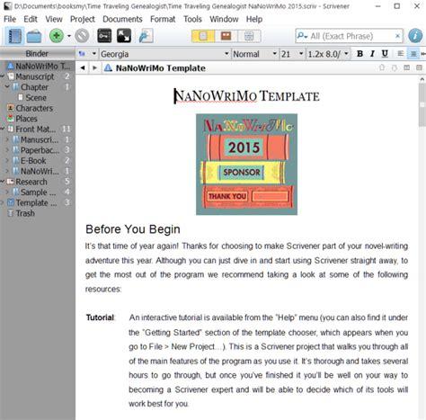 scrivener resume template nanowrimo novel template for scrivener scrivener