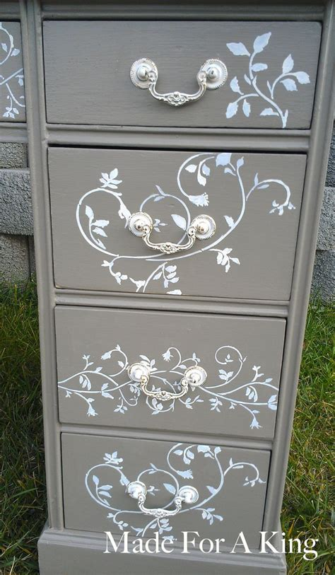 stenciled drawer fronts made for a king diy furniture