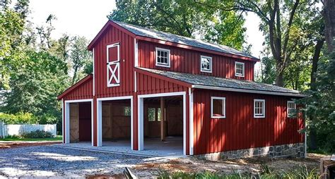 garages      pine board  batten siding    horse barns