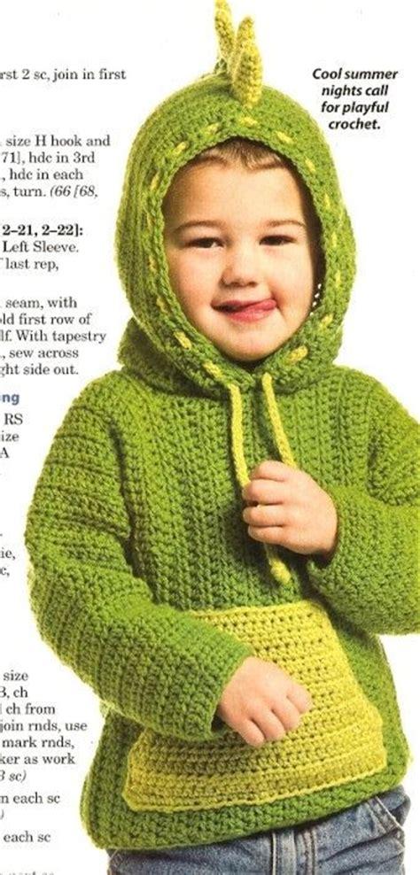 Hoodiesweaterjaket Fox x774 crochet pattern only dinosaur hoodie sweater by