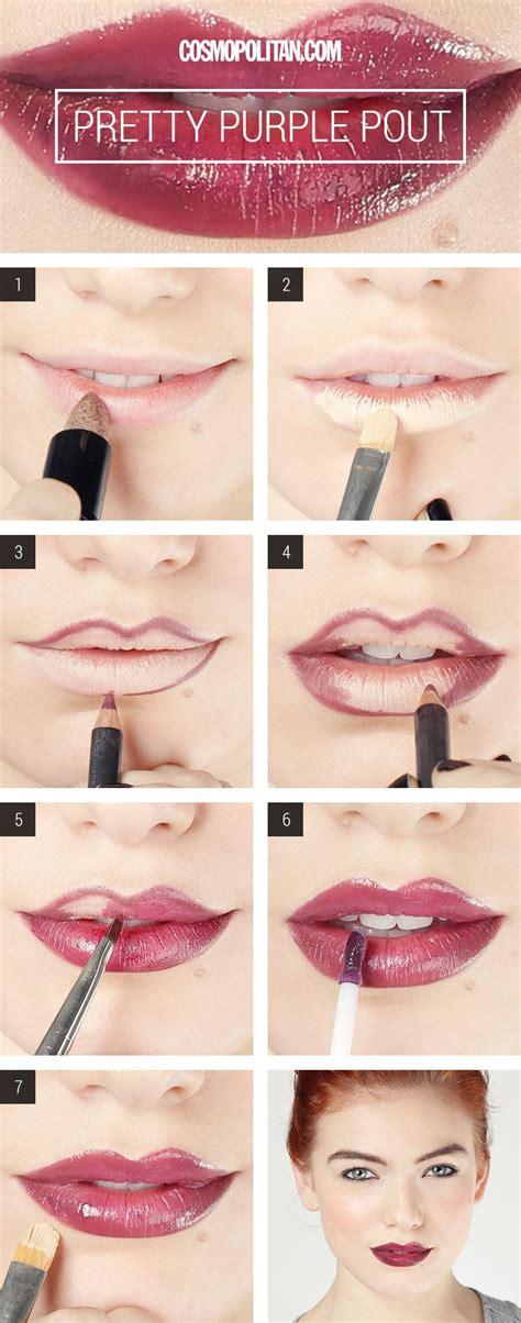 tutorial make up lipstik 16 trendy purple lips makeup looks pretty designs