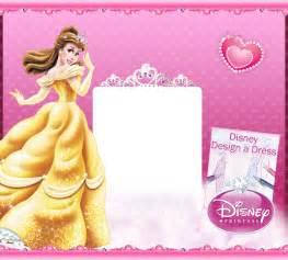 princess invitations to print