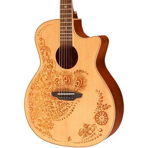 henna design guitar luna guitars henna oasis spruce series ii acoustic