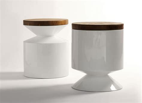 Side Table And Stool by Phase Design Reza Feiz Designer Griffin Stool Side