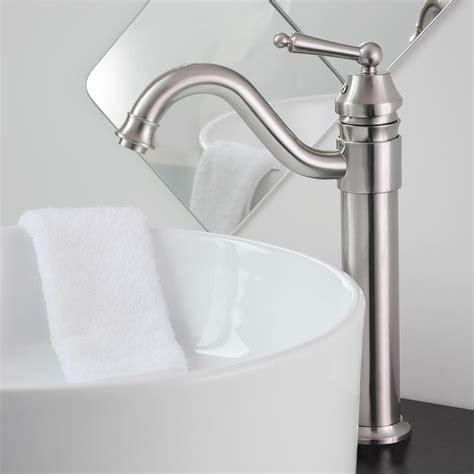 bathroom lavatory vessel sink faucet swivel one